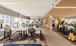 Flexibla kontor på tre nya våningsplan i 7A Posthuset