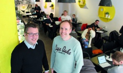 Kafé och kontor i ett på Hornsgatan